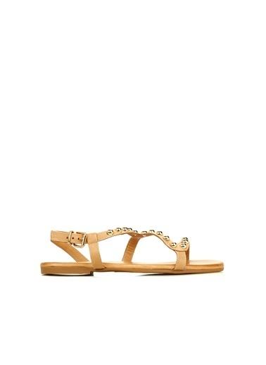 Divarese Divarese 5025317 Trok Detaylı Kadın Sandalet Vizon